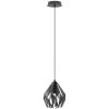 This item: Black and Silver 8-Inch One-Light Mini Pendant with Black Exterior and Silver Interior Metal Shade