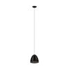 This item: Safi Black One-Light Pendant with Black Exterior and Gold Interior Metal Shade