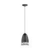 This item: Savignano Black One-Light Mini Pendant with Black Exterior and White Interior Metal Shade