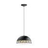 This item: Savignano Black One-Light Pendant with Black Exterior and White Interior Metal Shade