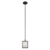 This item: Henessy Black and Brushed Nickel Five-Inch One-Light Mini Pendant