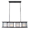This item: Henessy Black and Brushed Nickel 10-Inch Four-Light Mini Pendant