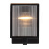 This item: Henessy Black and Brushed Nickel Five-Inch One-Light Wall Sconce