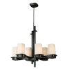 This item: Vlacker Bronze Six-Light Chandelier