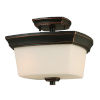 This item: Vlacker Bronze Two-Light Semi-Flush Mount
