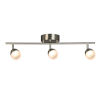 This item: Stella Ferry Brushed Nickel Three-Light LED Semi-Flush Mount with Frosted Acrylic Shade