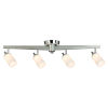 This item: 1600 Penn Ave Chrome Four-Light LED Semi-Flush Mount with White Frosted Glass Shade