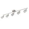This item: Temmar Brushed Nickel Five-Light LED Flush Mount