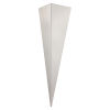 This item: Trigo 3 Silver One-Light Wall Sconce with Silver Stainless Steel Shade