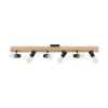 This item: Kingswood Black and Natural Six-Light Track Light