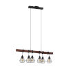 This item: Tarbes 1 Black and Dark Brown Six-Light Pendant with Black Metal Shade