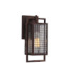 This item: Garraux Rust Six-Inch One-Light Wall Sconce