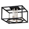 This item: Mundazo Black and Brushed Nickel 13-Inch Four-Light Flush Mount