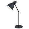 This item: Priddy Black One-Light Desk Lamp with Black Exterior and White Interior Shade