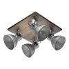 This item: Barnstaple Distressed Zinc and Black Four-Light Track Light with Distressed Zinc Metal Shade
