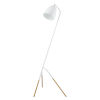 This item: Westlinton White and Gold Leaf One-Light Floor Lamp with White Metal Shade