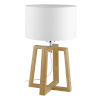 This item: Chietino Natural One-Light Table Lamp with White Fabric Shade