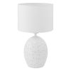 This item: Montalbano White One-Light Table Lamp with White Fabric Shade