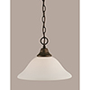 This item: Any Bronze 12-Inch One-Light Pendant with White Linen Glass
