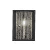 This item: Cadina Matte Black and Brushed Nickel Seven-Inch One-Light Wall Sconce