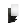 This item: Uptowne Dark Granite Four-Inch One-Light Wall Sconce with White Matrix Glass