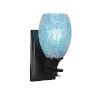 This item: Uptowne Dark Granite Five-Inch One-Light Wall Sconce with Turquoise Fusion Glass