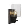 This item: Uptowne Dark Granite Four-Inch One-Light Wall Sconce with Square Clear Bubble Glass