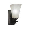 This item: Uptowne Dark Granite Five-Inch One-Light Wall Sconce with Square Frosted Crystal Glass