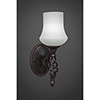 This item: Eleganté Dark Granite 38-Inch One-Light Wall Sconce with Zilo White Linen