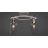 This item: Bow Brushed Nickel Two-Light Bath Vanity with Clear Bubble Glass