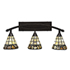 This item: Bow Bronze 28-Inch Three-Light Bath Vanity with Cobblestone Tiffany