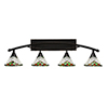 This item: Bow Black Copper 40-Inch Four-Light Bath Vanity with Green Sunray Tiffany