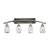 This item: Bow Brushed Nickel 37-Inch Four-Light Bath Vanity with Black Fusion Glass