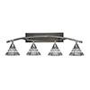 This item: Bow Brushed Nickel 39-Inch Four-Light Bath Vanity with Pewter Tiffany