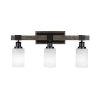 This item: Tacoma Matte Black and Distressed Wood-lock Metal 12-Inch Three-Light Bath Light with White Matrix Shade