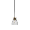 This item: Easton Matte Black and Brass One-Light Mini Pendant