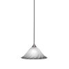 This item: Any Brushed Nickel 20-Inch One-Light Pendant with White Alabaster Swirl Glass