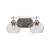 This item: Odyssey Brushed Nickel 18-Inch Two-Light Bath Vanity