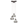 This item: Europa Brushed Nickel 13-Inch Three-Light Pendant with Royal Merlot Tiffany Glass