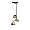 This item: Europa Bronze 14-Inch Three-Light Pendant with Kaleidoscope Tiffany Glass
