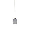 This item: Paramount Brushed Nickel One-Light 5-Inch Mini Pendant with Gray Matrix Glass