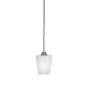 This item: Paramount Brushed Nickel One-Light 6-Inch Mini Pendant with White Matrix Glass