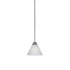 This item: Paramount Brushed Nickel One-Light 7-Inch Mini Pendant with White Matrix Glass