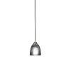 This item: Paramount Brushed Nickel One-Light 5-Inch Mini Pendant with Clear Ribbed Glass