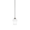 This item: Paramount Brushed Nickel One-Light 6-Inch Mini Pendant with White Linen Glass