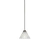 This item: Paramount Brushed Nickel One-Light 7-Inch Mini Pendant with Italian Ice Glass