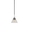 This item: Paramount Matte Black and Brushed Nickel Seven-Inch One-Light Mini Pendant with Clear Bubble Glass Shade