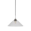 This item: Paramount Matte Black and Brushed Nickel 16-Inch One-Light Pendant with Clear Bubble Glass Shade