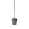 This item: Paramount Matte Black and Brushed Nickel One-Light Mini Pendant with Black Matrix Glass Shade
