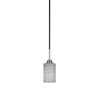 This item: Paramount Matte Black and Brushed Nickel One-Light Mini Pendant with Gray Matrix Glass Shade